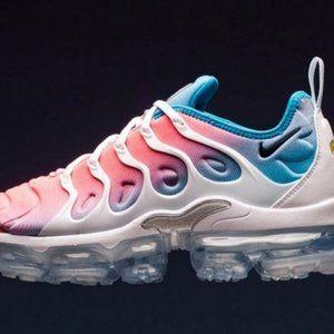 Nike Air Vapormax Plus Pink White Blue Men's Runni